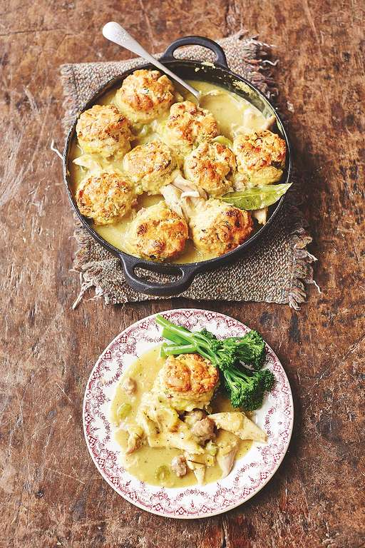 Turkey Stew Sweet Leek & Smoky Bacon Biscuit Dumplings
