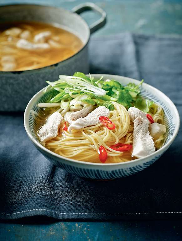 Fragrant Turkey Noodle Broth