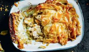 Turkey and Mushroom Filo Pie from Dean Edwards' Feelgood Family Food