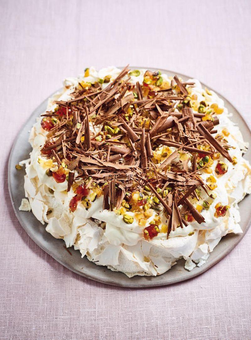 Nadiya Hussain's best bakes to feed a crowd tutti frutti pavlova nadiya bakes