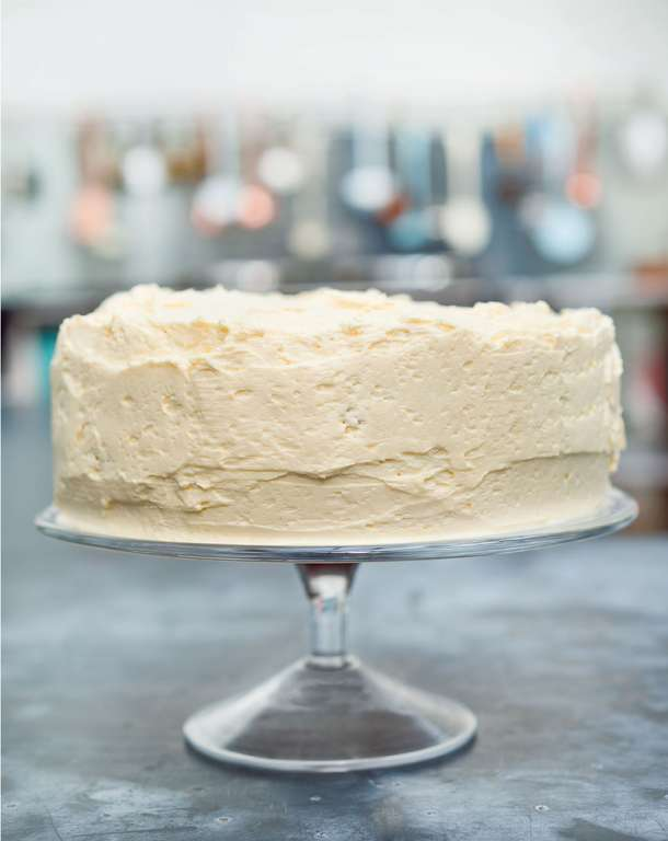 Vanilla Layer Cake with Ermine Icing