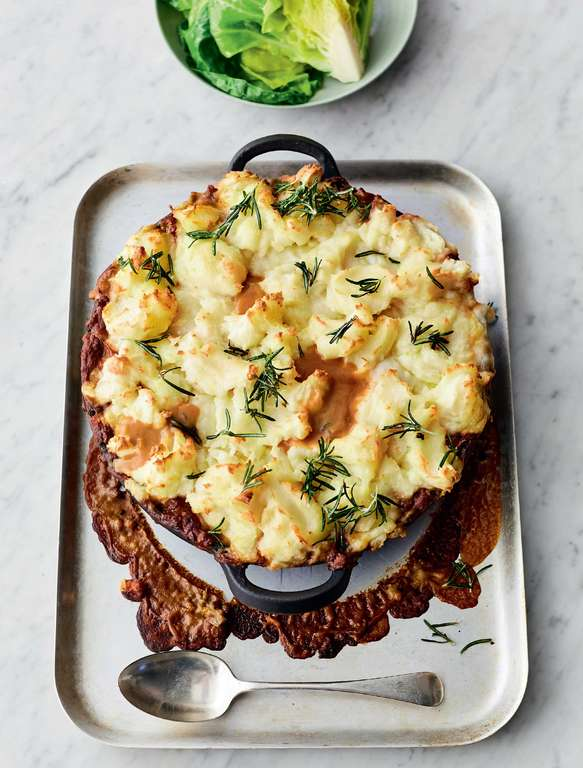 Jamie Oliver's Allotment Cottage Pie with Root Veg, Porcini Mushrooms, Marmite and Crispy Rosemary