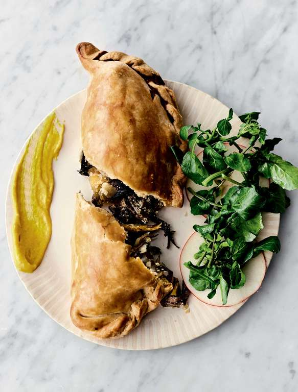 Jamie Oliver's Veggie Pasties with Mixed Mushrooms, Swede, Potato, Onion and Rosemary