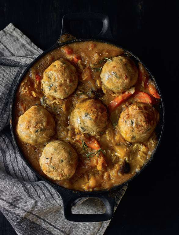 Winter Veggie Stew with Wholesome Lumpy Dumplings