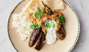 Jamie Oliver Stuffed Curried Aubergines | Meat-free Meals Channel 4