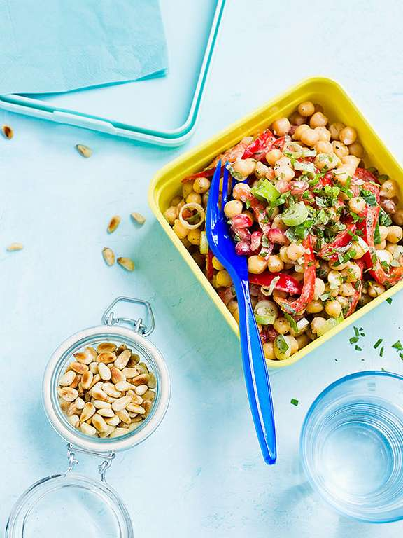 Indian Chickpea and Pomegranate Salad