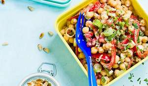 Indian Chickpea and Pomegranate Salad Recipe | Vegan on the Go