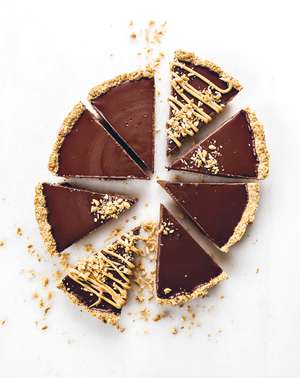 Vegan Peanut Butter Chocolate Tart | Plant-based Dessert Recipe