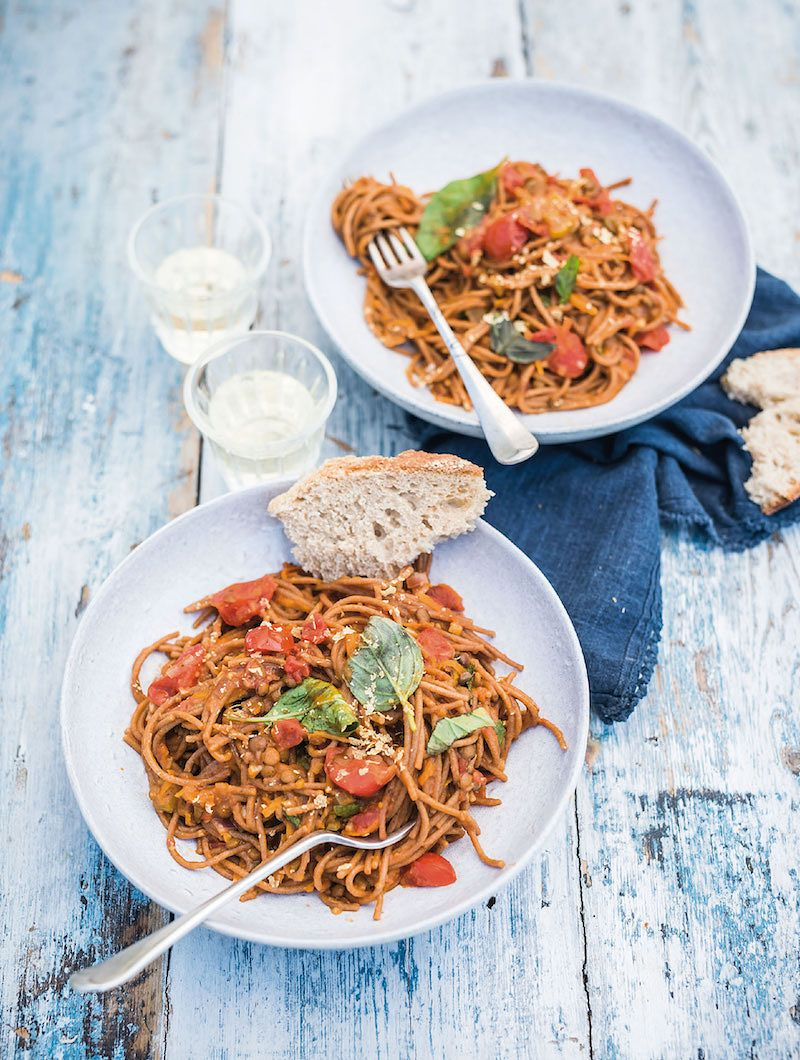 one pot vegan pasta recipes one pot vegan spag bol the happy pear recipes for happiness