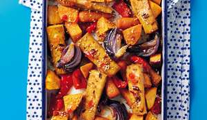 Vegan Tofu and Vegetable Traybake | One-Pot Recipe