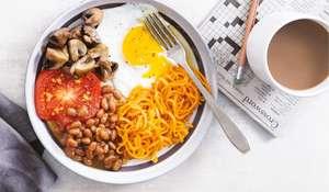 Gluten-free Vegetarian Full English Breakfast