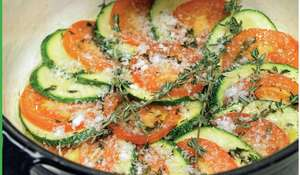 Oven-Baked Courgettes