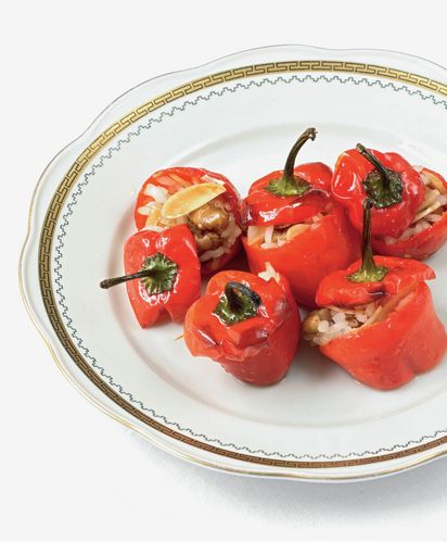 Red Peppers, Anchovies, Almonds, Thyme and Rice