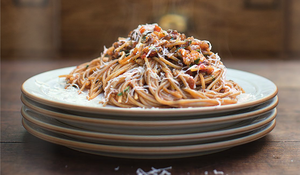 Jamie Oliver's Veggie and Lentil Bolognese from Super Food Family Classics