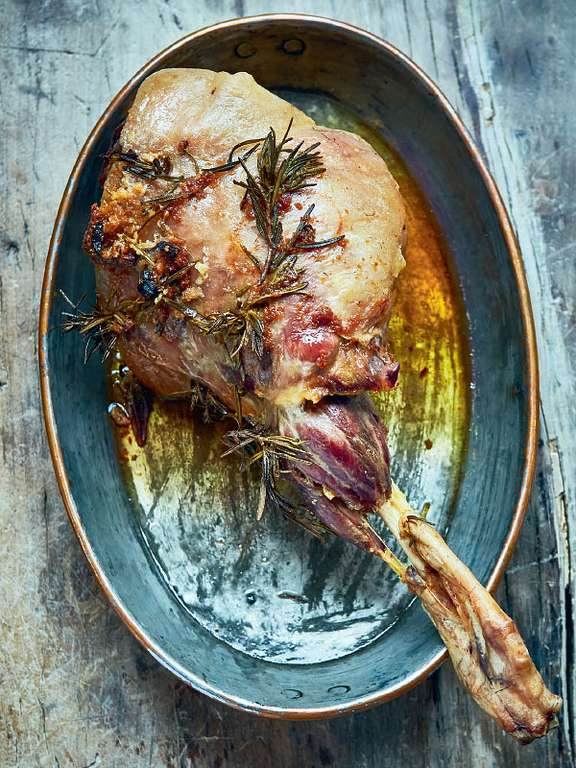 Roast Leg of Lamb with Anchovy and Rosemary
