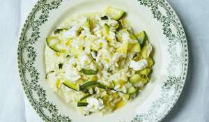 Courgette, Mint, and Goat's Cheese Risotto | Italian Recipe