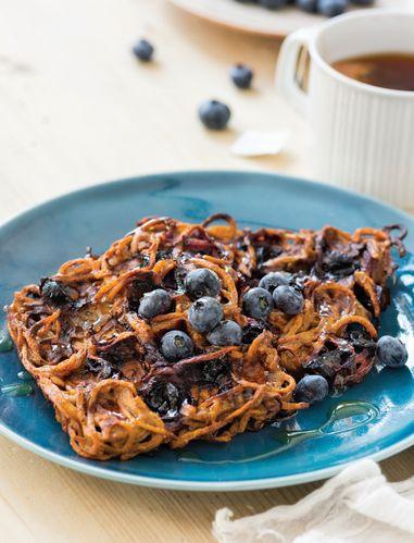 Blueberry Sweet Potato Waffles
