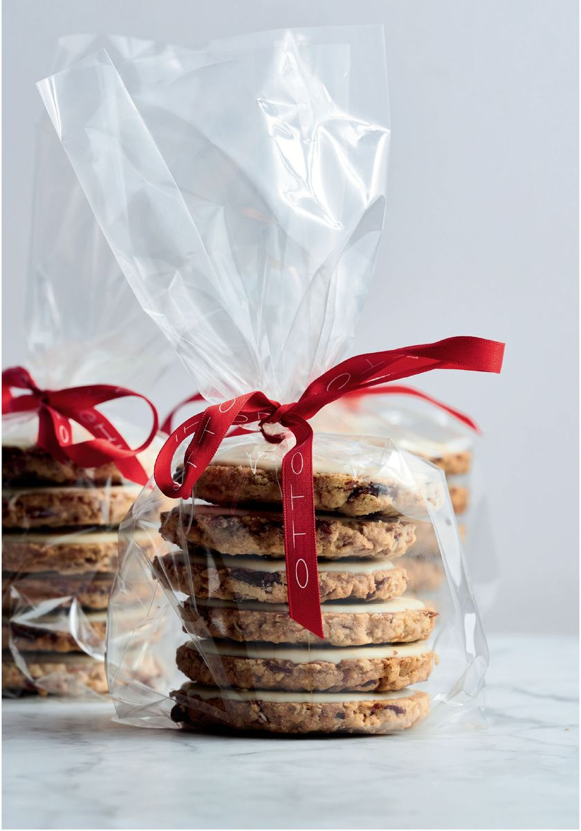 Last minute edible Christmas gifts Cranberry, White Chocolate and Oat Cookies from SWEET by Yotam Ottolenghi and Helen Goh