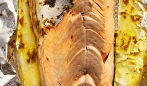 Whole Salmon Baked in Foil with Tarragon from Rick Stein's Fish and Shellfish