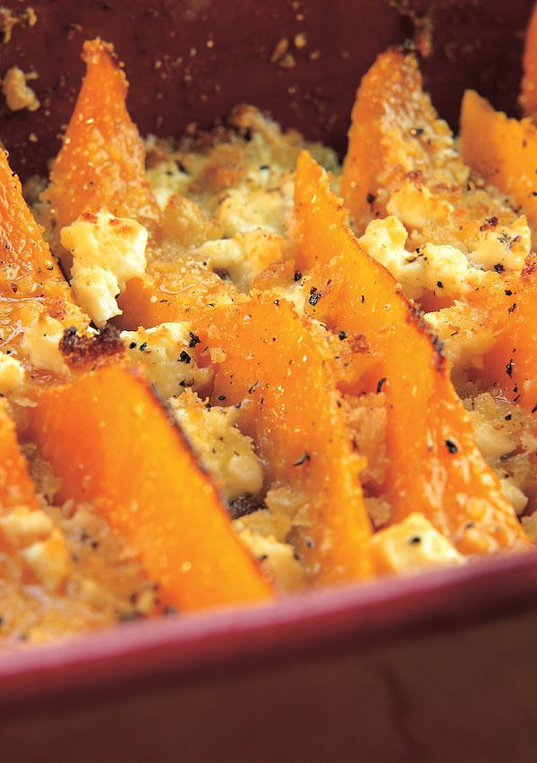 best squash recipes Winter Squash and Feta Gratin sophie grigson