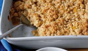 Wintry Apple Bake with Double Ginger Crumble | Winter comfort desserts