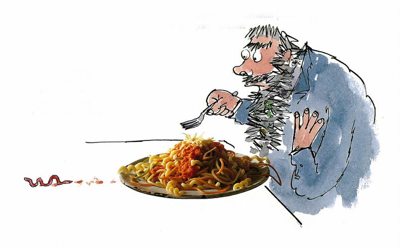 Wormy Spaghetti recipe (From Roald Dahl's The Twits)
