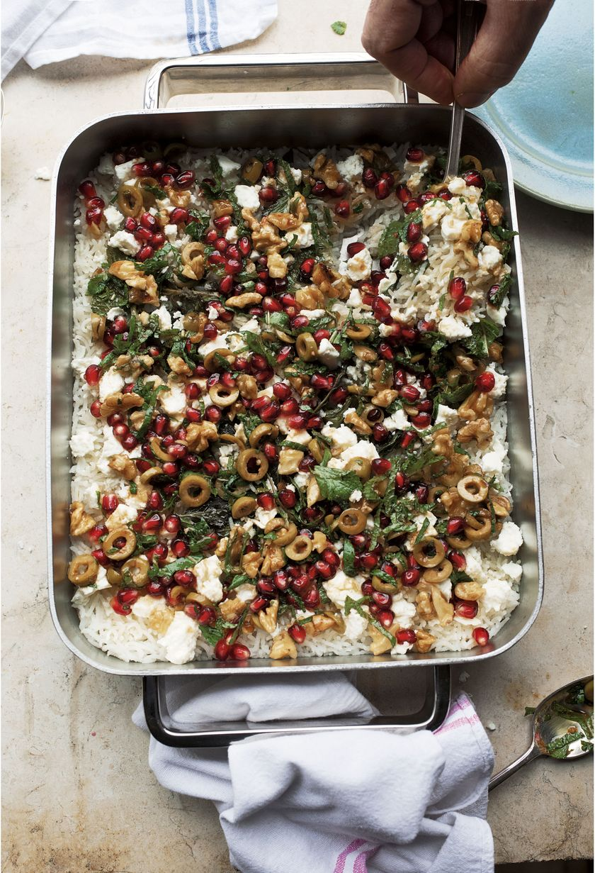 Easy Store Cupboard Rice Recipes | Ottolenghi Baked Mint Rice