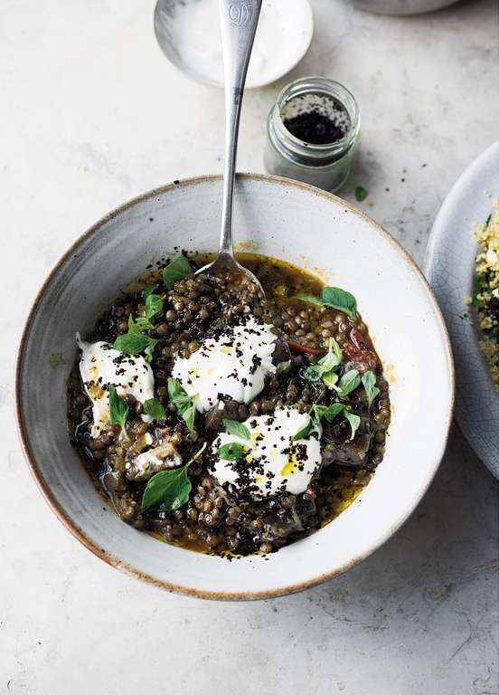 Puy Lentil and Aubergine Stew