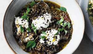 Yotam Ottolenghi Puy Lentil & Aubergine Stew | Recipe from SIMPLE