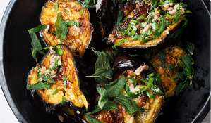 Yotam Ottolenghi Roasted Aubergine with Anchovies | SIMPLE recipe