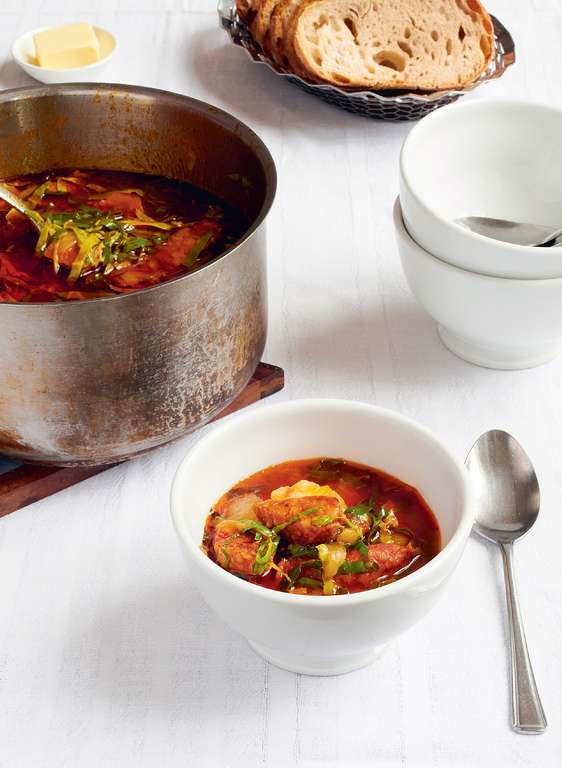 Chorizo and Potato Stew, or Caldo Verde