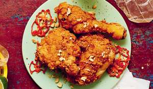 Big Zuu's Fried Chicken Three-Ways Recipe | Big Eats, Dave