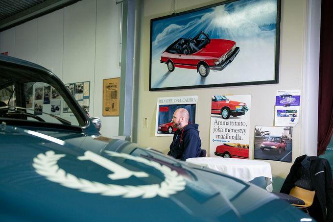 Valmet Automotiven Tomi Salo Uudenkaupungin automuseossa