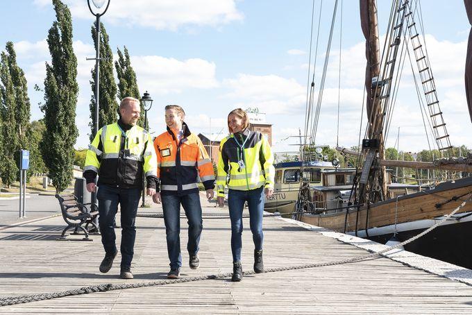 Vertekin johtoryhmän uudet kasvot: Pasi Arvola, Jiri Tähkänen ja Anna Suominen.