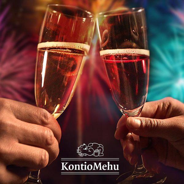 Kontiomehu toivottaa onnellista uutta vuotta! . . . #kuohuvaa #kuohujuoma #kilistellään #kontiomehu #lehtikuohu #raikas #alkoholiton #kontiolahti #pohjoiskarjala #uusivuosi #uusivuosi2019 #tunnekuohua