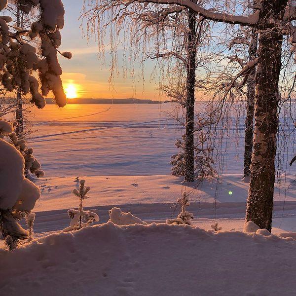 Näissä maisemissa pöljemmästäkin kuoriutuu kuvaaja... #lautsa #kontiolahti #kontioranta #pohjoiskarjala #talvi #sunset #finland #auringonlasku