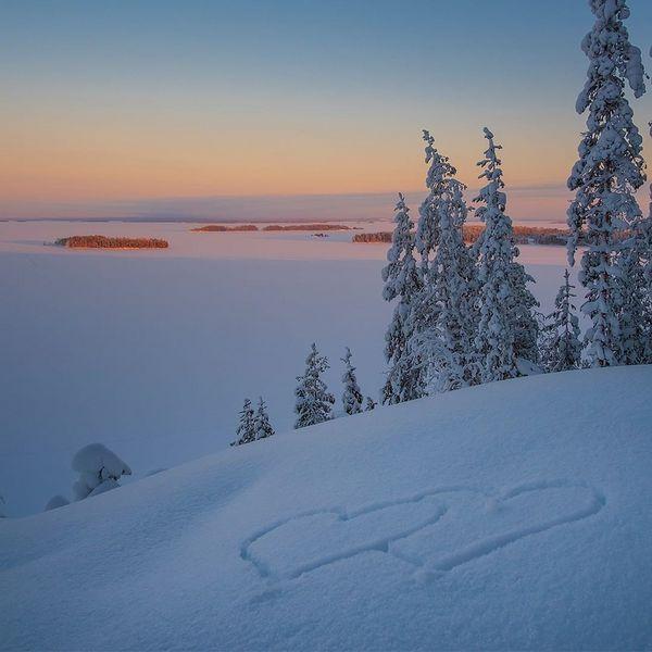Lunta riittää nyt täällä Höytiäisen rantamailla ja Huhmarisvaaran laelta avautuu upea talvinen maisema kulkijan ihailtavaksi 💙  #huhmari #lomakeskushuhmari #huhmariholidaycentre #höytiäinen #huhmarisvaara #winterwonderland #pohjoiskarjala #polvijärvi #visitkarelia #visitkarelia_finland