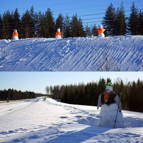 6-tien varrella ollaan jo ihan talvilomatunnelmissa, kohtahan se loma jo onkin! 🎉 Venejoen kyläyhdistys ja LehPa ovat tehneet nuo ihastuttavat lumiukot. Kannattaa käydä ihastelemassa lumiukkoja, mutta ollaan silti varovaisia liikenteessä! 😉⛄⛄⛄ #kontiolahti #lumiukko #talviloma #iloa #liikenne