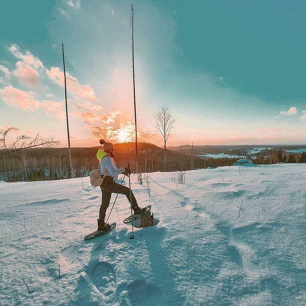 Taas sitä vkl löytyy oikeen kelpo paikka maisemien puolesta 🤩🤪 innostuin kyllä totaalisesti lumesta (näin maaliskuussa😅) kun älysin, että lumikengillä sitä pääsee metsään