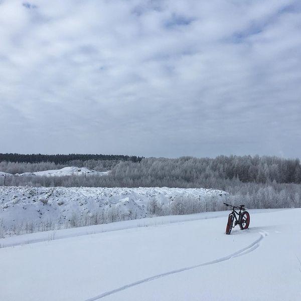 Mukavia nämä hankiaiset ajella, ei paljoa maasto rajoita mistä polkee 🚲#hankiainen #fatbike #suomentalvi #joensuu #mtvsaa #snow #penttilä #maastopyöräily #läskipyörä #läskillehiki #mtb #northkarelia #lenkillä #trailbiking