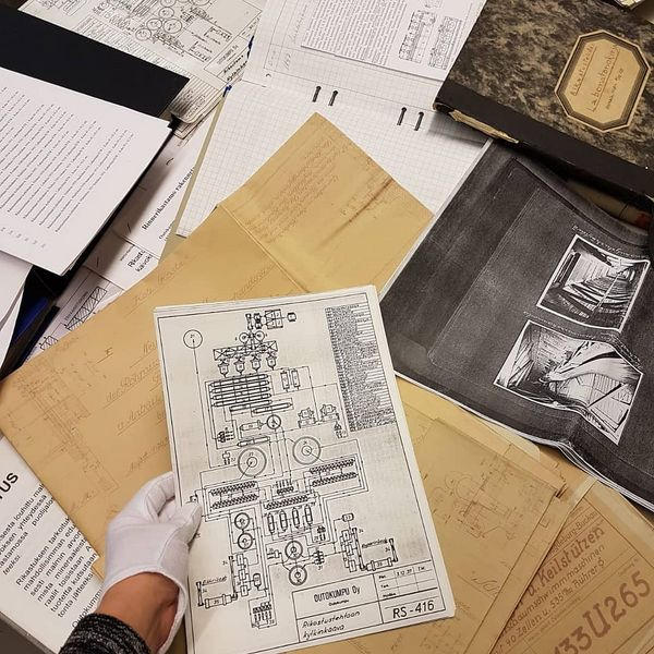 Working in archive. Historical materials to research and use in creating of our new exhibition of beneficiation. #oldmine #cbctoday #vanhakaivos #miningmuseum #museokortti #kareliacbc
