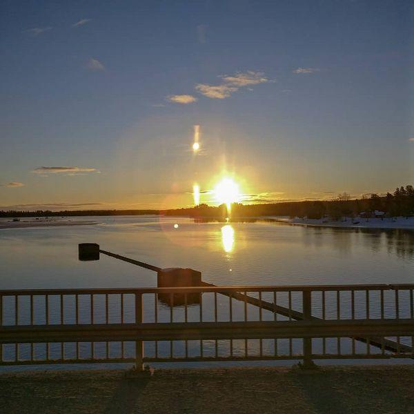 Hyvää huomenta! #eno #joensuu #pielisjoki #northkarelia #finland #nature #morning #sunrise #april #2019