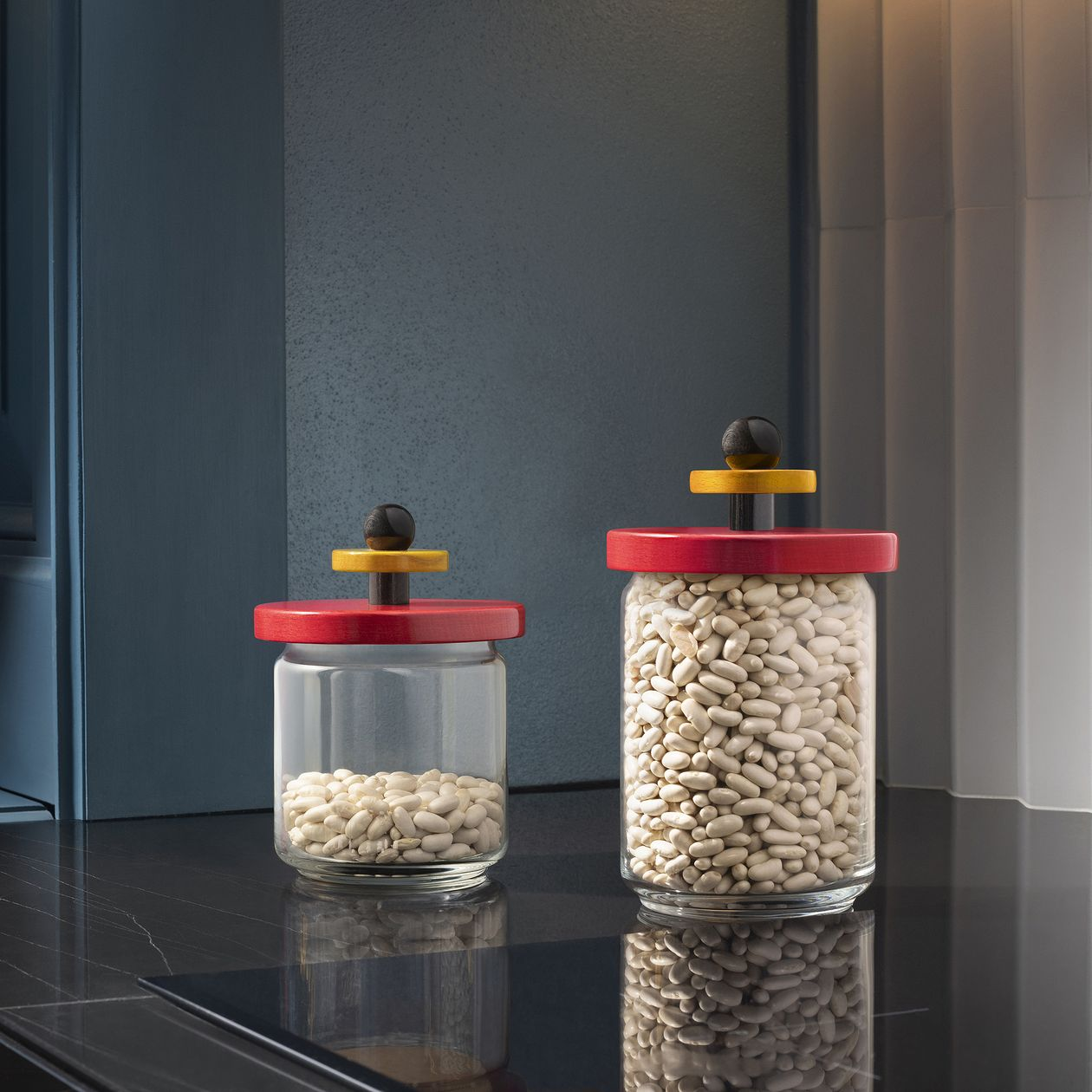 Alessi Sottsass jar 75 cl, red