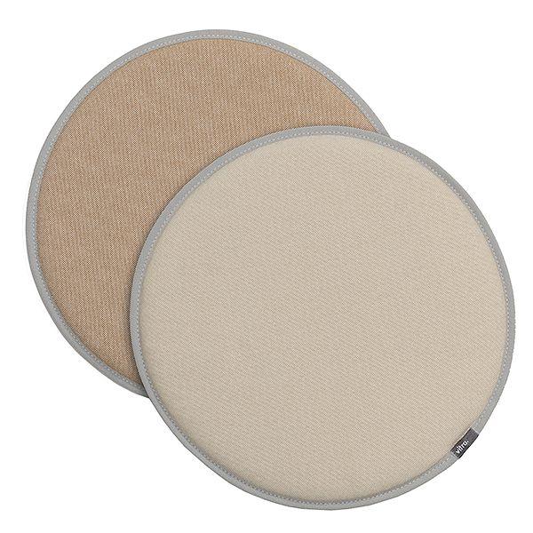 Vitra Seat Dot cushion, cream white - tobacco