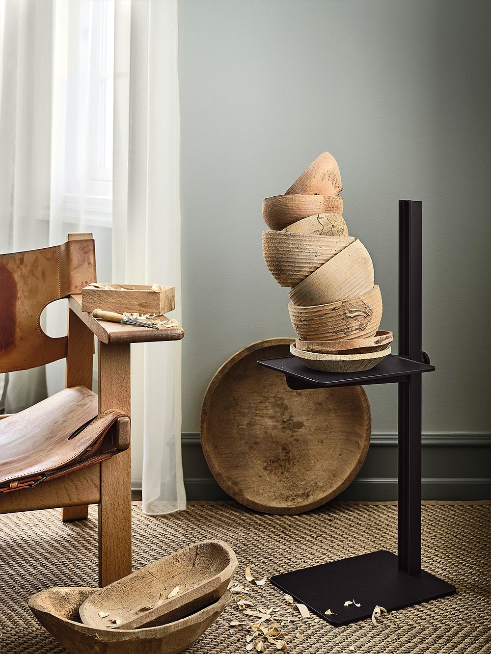 Museum side table by String Furniture