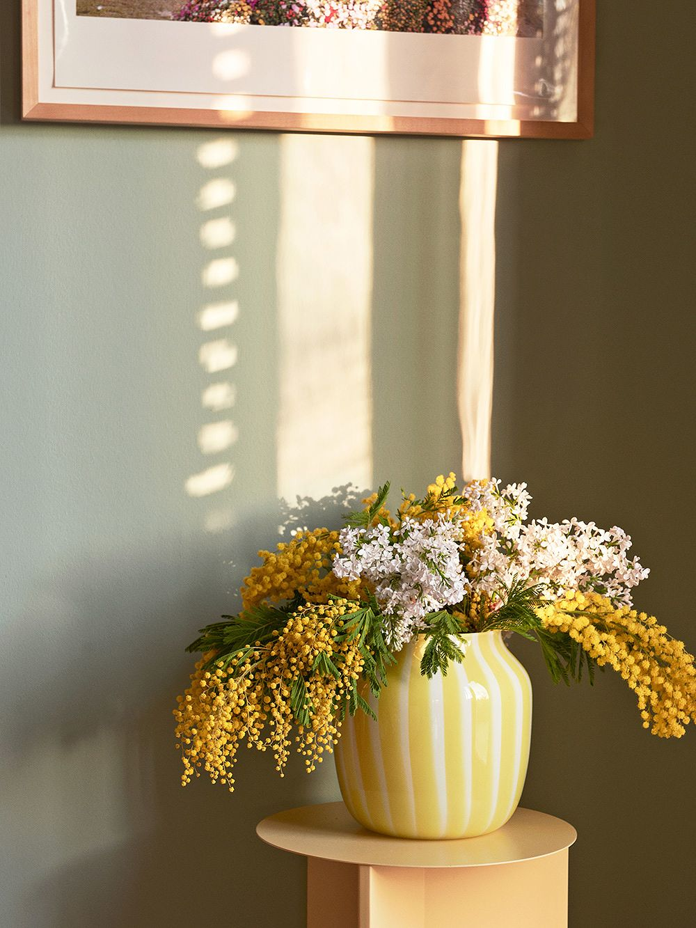 Hay's wide, vibrant yellowJuice vase