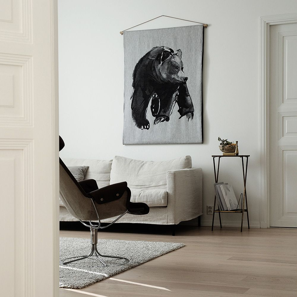 Teemu Järvi Illustrations Gentle Bear art textile