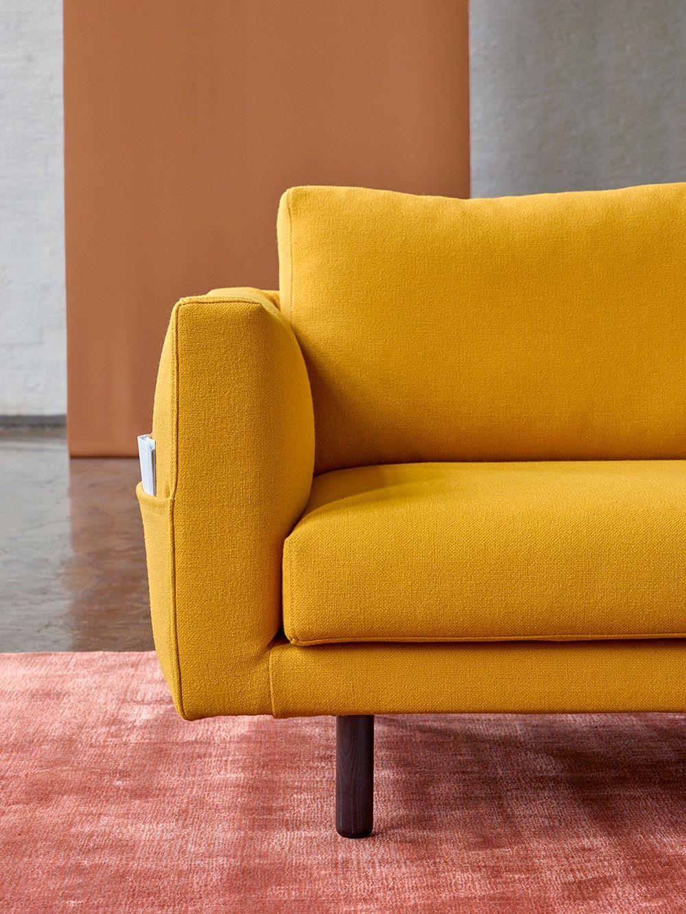Hakola Cosy Pocket Wool sofa in saffron yellow