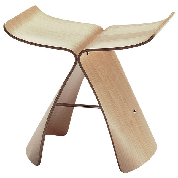 Vitra Butterfly stool in maple
