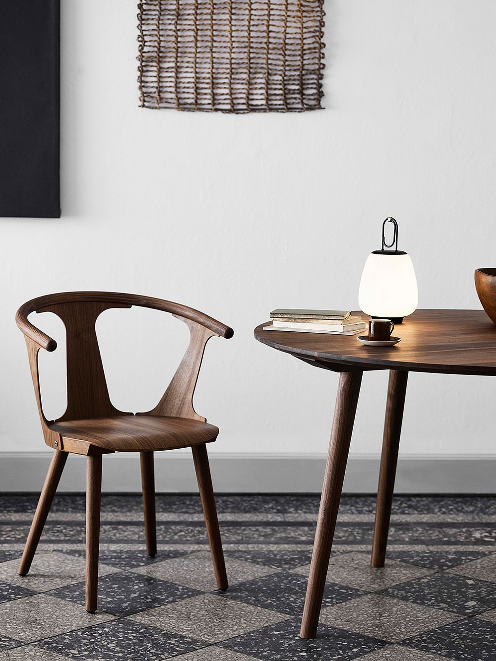 &Tradition In Between SK1 chair and SK4 table, smoked oak